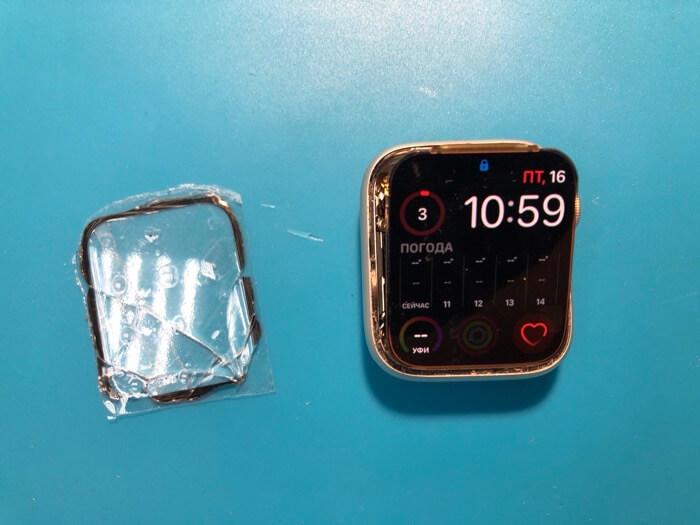 замена стекла Apple Watch Series 4